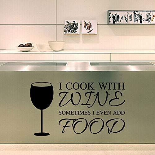 Wandtattoo Wandsticker Wandaufkleber,Kochen Mit Weinglas Wohnzimmer Sofa Hintergrund Aufkleber Wandsticker, Papier