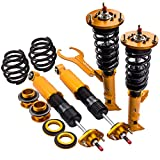 Coilovers Shock Suspension for BMW E36 (1992-1999) 318i 318is 318ic 323i 323ic 323is 328i 328is 328ic M3 with Adjustable Damper - Gold