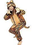 Funidelia | Disfraz de Tigre Onesie para Hombre y Mujer Talla XL ▶ Animales, Desierto, Selva - Multicolor