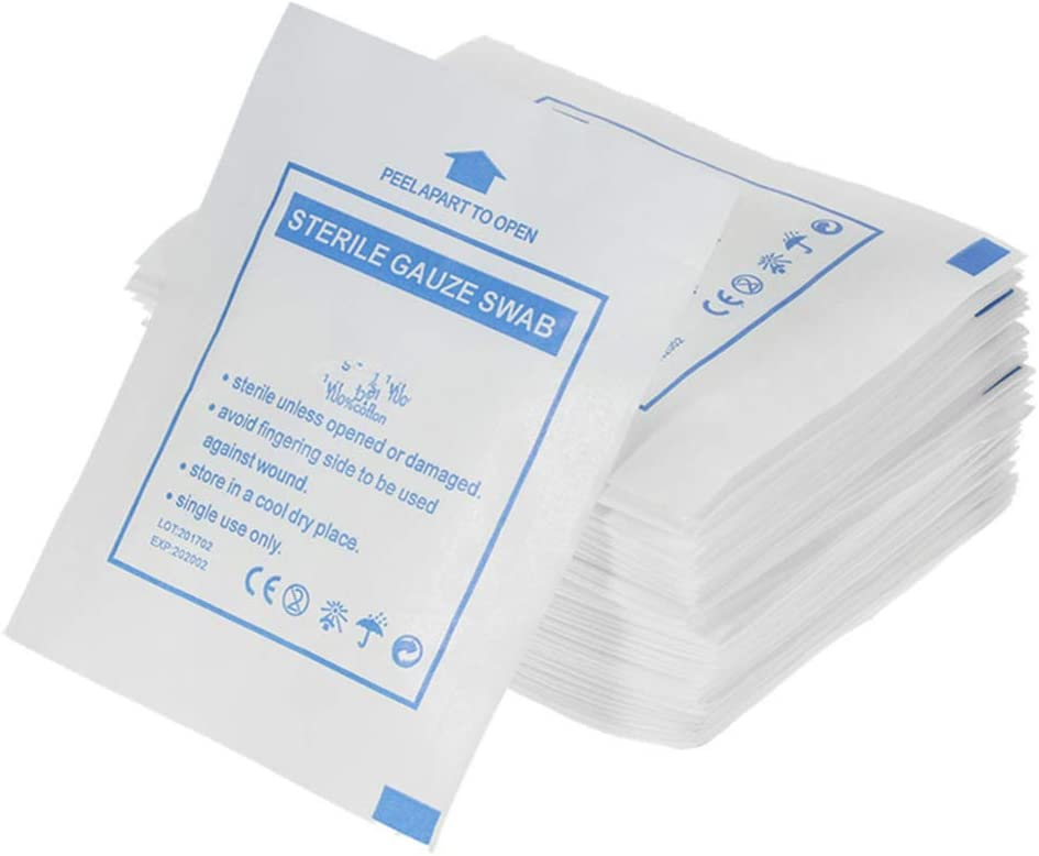 Milisten Credence specialty shop 100pcs Medical Non Woven Gauze Used Sponge Swabs