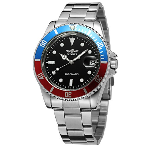 FORSINING Men's Vintage Automatic Stainless Steel Bracelet Analogue Collection Watch WRG8066M4T6