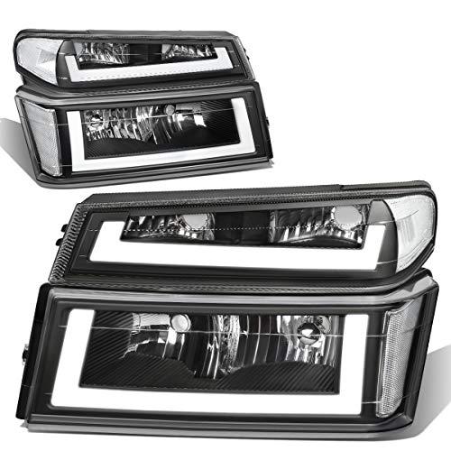 DNA Motoring HL-LB-CCOL044P-BK-CL1 LED-Tagfahrlicht + Frontstoßstange Blinkerlampen-Set schwarz