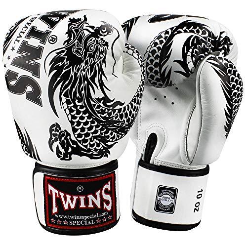 TWINS Special Boxhandschuhe, Flying Dragon, weiß-schw, 16 Oz