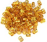 WOIWO 100PCS Aluminum Dreadlocks beads Dread Locks Adjustable Metal Cuffs Hair Decoration Braiding Hair Jewelry - Gold
