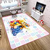 maishi Rugs Carpet Children'S Bedroom Living Room Door Mats Nursery Cute Cartoon Winnie The Pooh Pattern Kids Game Home Decor Baby Crawl Mat Non-Slip Rectangle Large Size