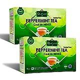 Qualuca Té de Menta | (100 tazas) | Té con hojas de menta natural en cada bolsita de té | Natural 100% | Té detox | Total 100 bolsitas de té | 140 g