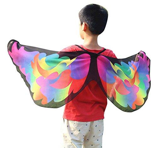 PinkLu PinkLu Mädchen Schal 80 Cm-100 cm Mode Drucken Kinder Schmetterling Schal Fun Kleidung Modeparty FrüHling Und Sommer Neuer HeißEr Schmetterling Schal