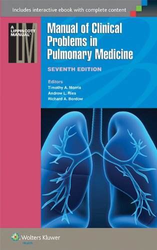 Compare Textbook Prices for Manual of Clinical Problems in Pulmonary Medicine Lippincott Manual Series Seventh Edition ISBN 9781451116588 by Morris MD  FACCP, Dr. Timothy A.,Ries MD  MPH, Dr. Andrew L.,Bordow MD, Dr. Richard A.