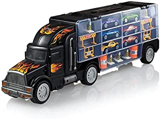 Play22 Toy Truck Transport Car Carrier – Toy Truck Includes 6 Toy Cars &..