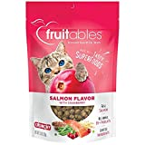 Fruitables Cat Treats | Crunchy Treats For Cats | Healthy Low Calorie Treats Packed with Protein | Free of Wheat, Corn and Soy | Made with Real Salmon with Cranberry | 2.5 Ounces
