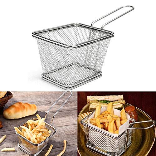 Las patatas fritas de acero inoxidable freidoras canasta de malla Fry de herramientas de cocina