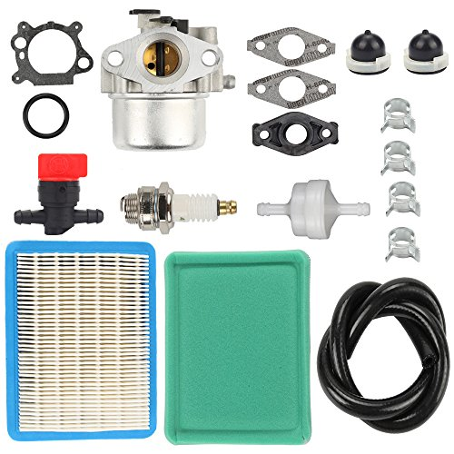 Harbot Carburetor Tune-up kit with Air Fuel Filter Line Shutoff Valve for 794304 796707 799866 790845 799871 Toro 20331 20330 20332 20333 20334 20092 20093 20095 20064 20066
