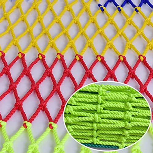 AWSAD Balkonschutznetz farbige Nylon Dekorative Netze Kleiderhängenetze Treppen Balkon Kindergarten Schutznetze Kinder Klettersicherheitsnetze Hanfseilnetze Color : 8mm Rope, Size : 2x3m(7x10ft)
