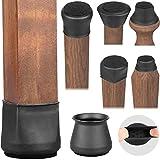 Chair Leg Floor Protectors, Chair Leg Capsfor All Shape Chairs Legs, Silicone Furniture Table Chair Leg Covers for...