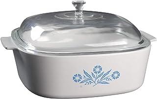 "Vintage Corning Ware (A-84-B) ""Cornflower"" Casserole Baking Dish (4 quart) with lid"