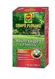 Compo FLORANID Abono de césped con herbicida, Larga duración de hasta 3 Meses, Granulado Fino, 3 kg, 100 m