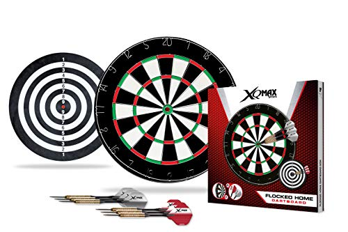 XQmax Darts Flocked Home ensmeble de Jeu fléchettes