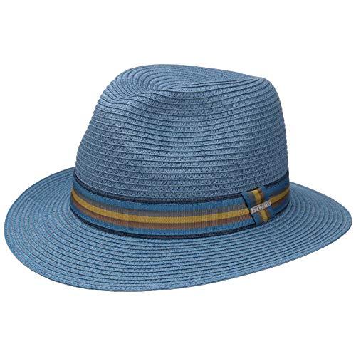 Stetson Cappello di Paglia BBQ Toyo Player Uomo da Sole Estivo Cappelli Spiaggia con Fascia in Pelle Primavera//Estate