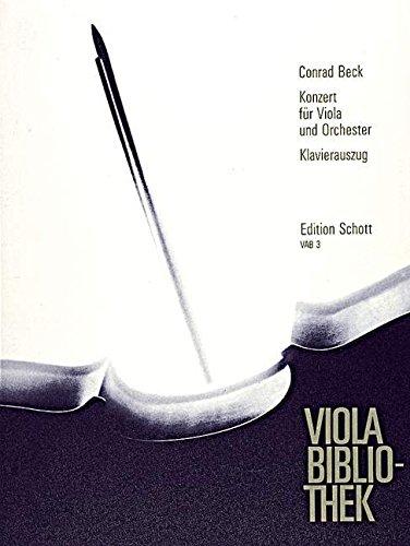 Konzert: Viola und Orchester. Klavierauszug mit Solostimme. (Viola-Bibliothek)