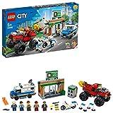 LEGO City Police - Polica: Atraco del Monster Truck, Set de Construccin a Partir de 5 Aos, Contiene 2 Minifiguras, Camin Magntico, Banco de Juguete, Furgoneta Polica y Moto (60245)