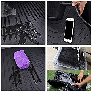 Boot Mat Liner for MKZ 2017 up Vehicle Rear Cargo Liner Trunk Tray Floor Mat Heavy Duty Waterproof Black Rubber Custom Tailored Fit (Size : Chevrolet Lova 2011-2015)