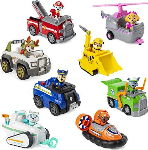 PAW Patrol Basis Fahrzeuge mit Figuren - Zufallsauswahl des Charakters - Dopplungen möglich
