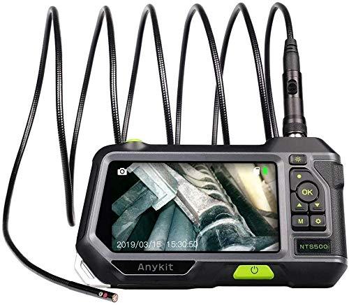 YAYY Industriële endoscoop endoscoop inspectiecamera met twee lenzen 720p HD 5 inch IPS-scherm 5 mm semi-star slangencamera met instelbare 6 ledlampen (upgrade)