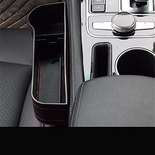 LYSHUI Caja deCuero de Almacenamiento con Espacio para Asiento de Coche de PU, para BMW G30 E53 E60 E61 E63 E65 E81 E82 E87 E90 E91 X5 E46 F30 E70 M3 M4 M5 X5 X6 M Accesorio