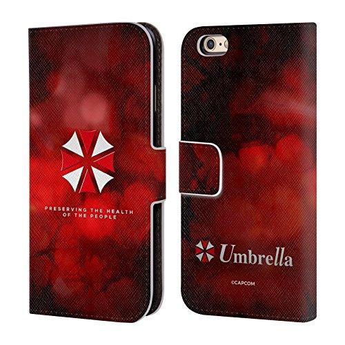 Head Case Designs Offizielle Resident Evil Regenschirm Logo Leder Brieftaschen Huelle kompatibel mit Apple iPhone 6 / iPhone 6s
