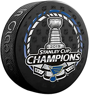 In Glas Co 2019 Official Stanley Cup Champions ST Louis Blues Champ Puck