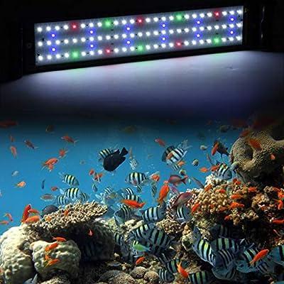 LED Aquarium Lamp Fish Tank Light for 20-28 Inch Aquarium US Stock