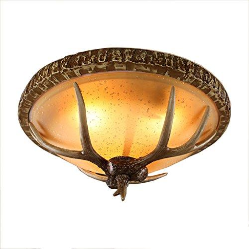 American Style Retro industriële wind hars plafondlamp persoonlijkheid creatieve gewei vorm LED plafondlamp woonkamer slaapkamer eetkamer gang balkon plafondlamp