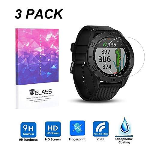 LUXACURY Bildschirm schutzfolie für Garmin Approach S60 ,Garmin Approach S60 Smartwatch Bildschirmschutzfolie Folien 9H gehärtetem Glas Anti-Fingerprint (3 Pack)