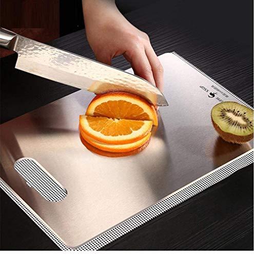 QQW 304 Tablero de Corte de Acero Inoxidable Sterle Mildew a Prueba de Pizarra Tablero de Corte de Fruta Tablero de Corte Rectangular Mini 36X25Cm