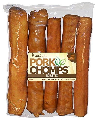 Scott Pet Pork CHOMPS Premium 8-10' Roasted ROLLZ 5CT