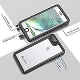 Lanhiem Funda Impermeable iPhone 6 Plus iPhone 6s Plus, Carcasa Sumergible Resistente Al Agua IP68 [Protección de 360 Grados], Carcasa con Protector de Pantalla Incorporado, Negro
