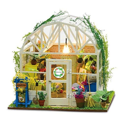iBellete Puppenhäuser,DIY House Model Kit Früher,Romantisches Blumenhaus Miniatur Puppenhaus für Kinder und Erwachsene Weihnachten Geburtstagsgeschenk