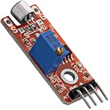 AZDelivery KY-038 Micrófono detección de sonido de alta sensibilidad módulo pequeño para Arduino con eBook incluido