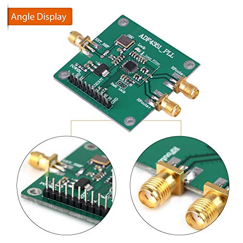 RF Signal Source Frequency Synthesizer,35M-4.4GHz RF Signal Source Phase Locking Loop Frequency Synthesizer ADF4351 Development Board