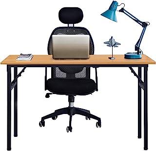 comprar comparacion Need Mesa Plegable 120x60cm Mesa de Ordenador Escritorio de Oficina Mesa de Estudio Puesto de Trabajo Mesas de Recepción M...