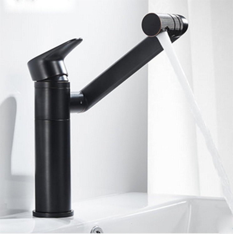 Black Bronze Basin Faucet, hot and Cold Faucet, All Copper Bathroom can redate Faucet-A