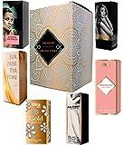 Set de 6 (seis) Perfumes para Mujer 15ml Cada uno en caja con spray. (Eau de Parfum/Eau de Toilette) En caja de regalo ORGANITERRA