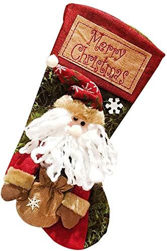 """FLZONE Medias de Navidad,19.6""""Medias de Navidad Bolsa de Regalo,Adorno de Calcetín Navidad Chimenea para Decoraciones de Fiesta 25 * 50 CM(Papá Noel)"""