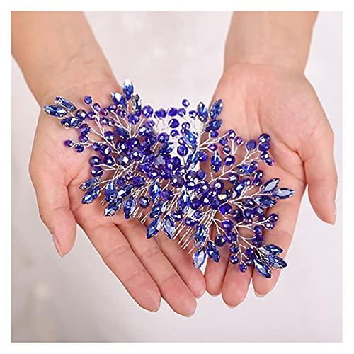 TOPHUHAI Bohemio Tocado Azul Negro Púrpura Headwear Hermosa Mujer Peine Peine Cristal...