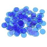 Non brand 500 Pz Plastica 19mm Bingo Chips Marker per Bingo Gioco Carte da Poker Bambini C...