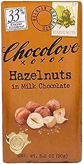 Chocolove ヘーゼルナッツ入りミルクチョコレート ココア33 90g 3 2オンス