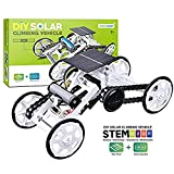 Kids DIY Car Toys Stem 4wd Motor Climbing Vehicles Electric Solar Science Mechanical Construction Truck Toy Kit Building Block Circuit Engineering Educational Gift Suitable for 6-12 Year Old Boy/Girl