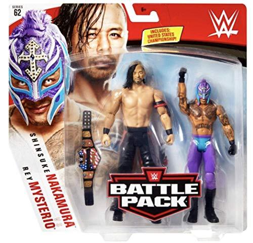 Rey Mysterio & Shinsuke Nakamura WWE Battle Pack Basic Figure Wrestling Mattel Series 62
