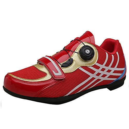 Zapatillas de ciclismo masculinas y femeninas, ocio carretera zapatos de suela dura...