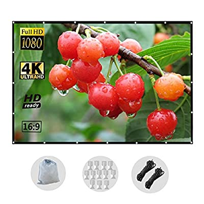 120 Inch Projection Screen Foldable Wrinkle-Fre...